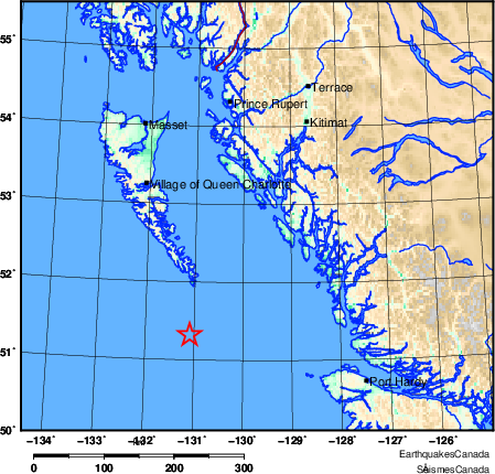 Map of Earthquake Area